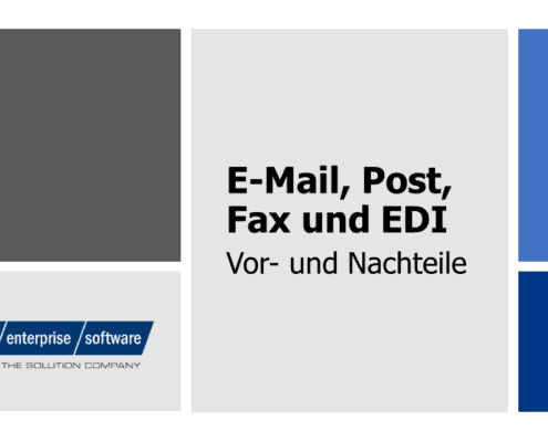 e-mail fax post edi