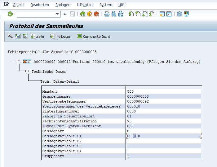 SAP Application Log Monitor Error Log