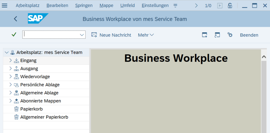 SBWP SAP Business Workplace
