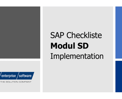 SAP SD Checkliste