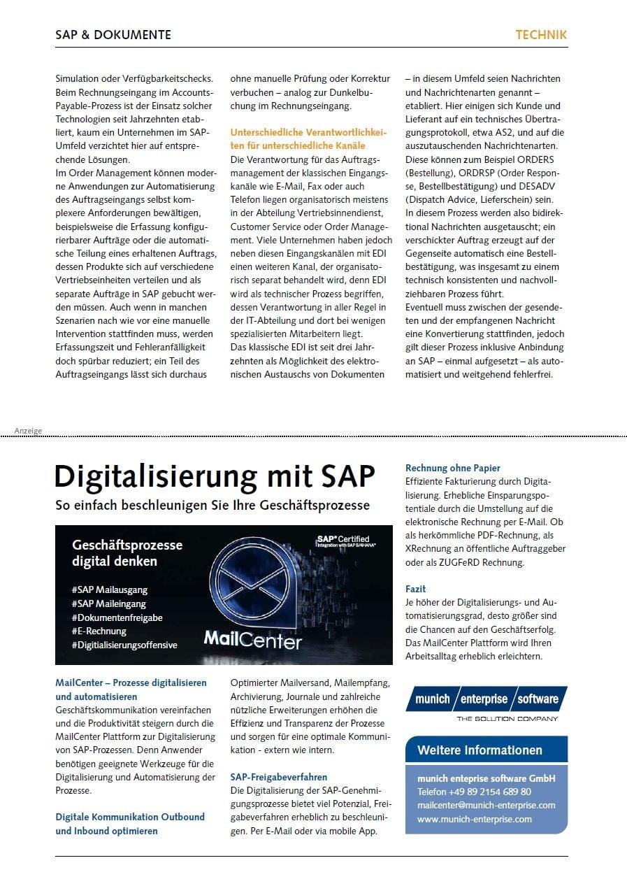 Digitalisierung mit SAP