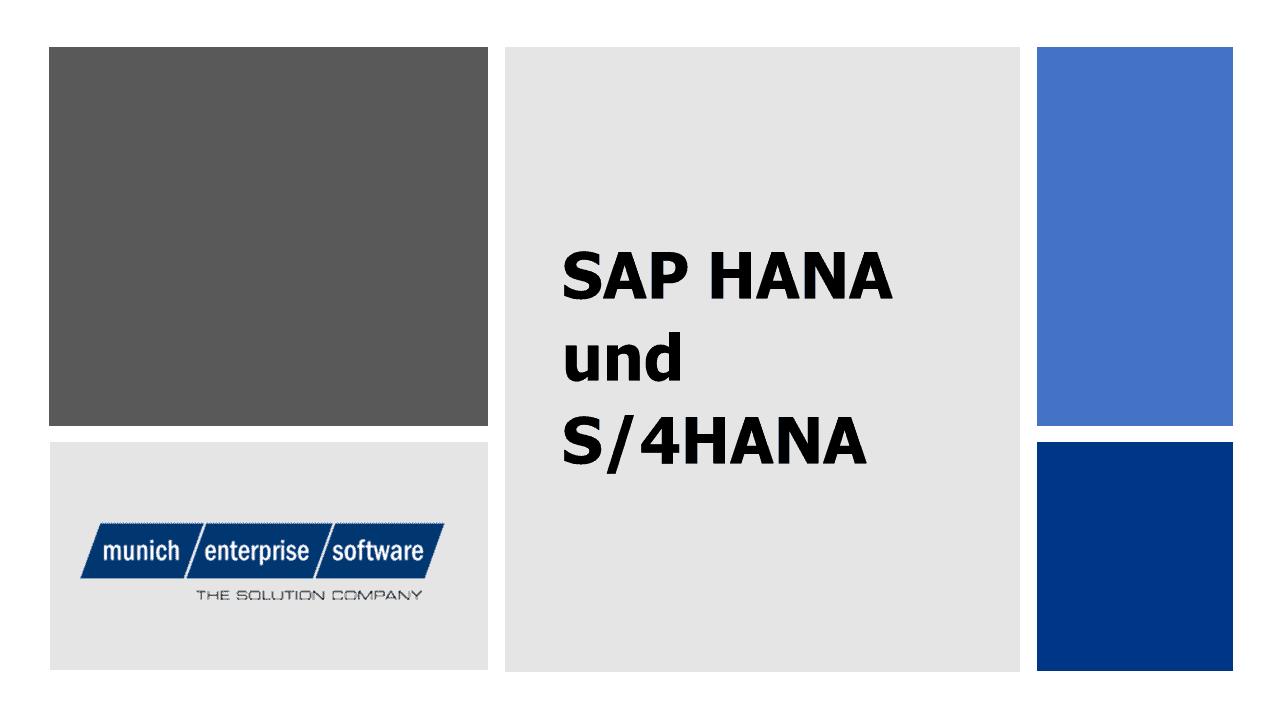 SAP HANA S/4HANA
