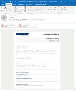 SAP Mail Bestellung HTML Darstellung