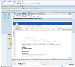 SAP Mail Texte editieren Screenshot