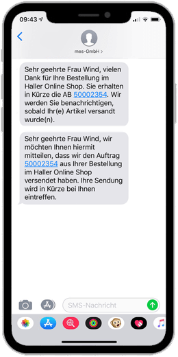 SAP SMS on Smartphone