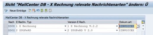 sap xrechnung customizing
