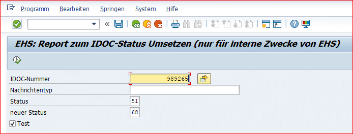 Convert report to IDoc status