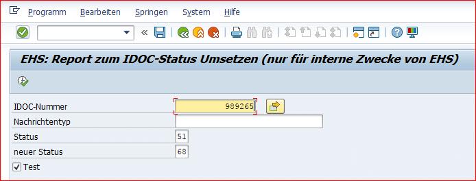 Convert report to IDoc status